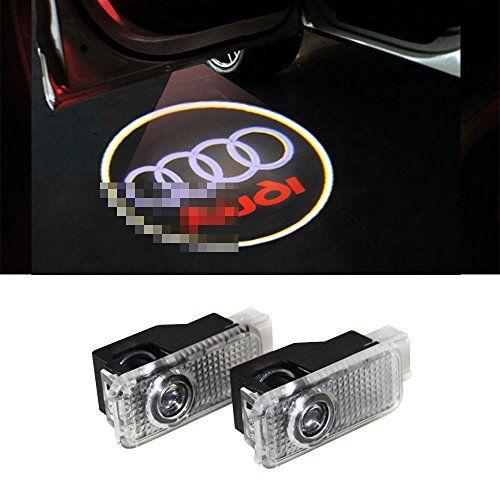 Karono 2pcs Car Door LED Logo Projector Welcome Courtesy Ghost Shadow Laser Emblem Lights for Audi A1 A4 A4L A5 A6 A6L A7 A8L Q3 Q5 Q7 R8 TT