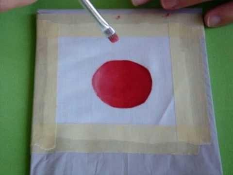 DIY Como Difuminar Colores con Pintura en Tela *How to Blur Paint* Pintura Textil Pintura Facil - YouTube