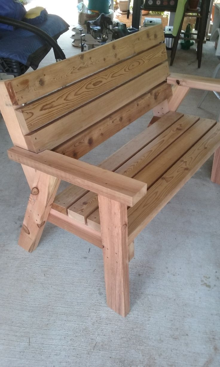creative outdoor wood benches design