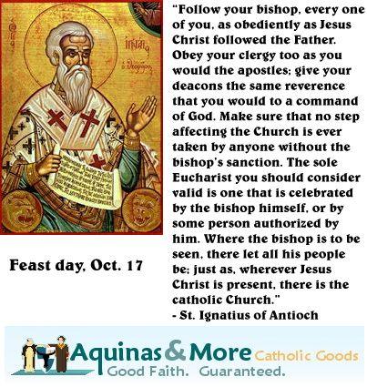 St. Ignatius of Antioch.