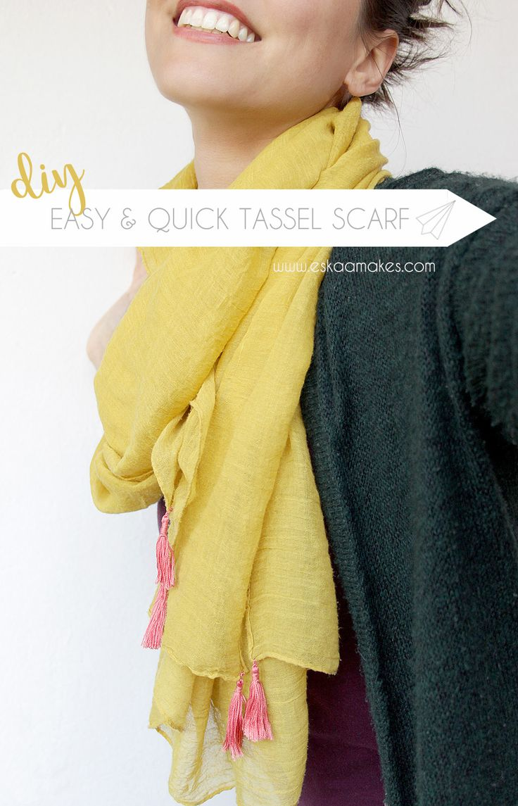 How to make: quick & easy tassel scarf