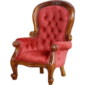Victorian Style Miniature Chairs - Victorian Style Miniature Loveseats - Mahogany Doll Chairs - Miniature Victorian Chairs - Antique Style Doll Furniture - Vintage Inspired Toy Chairs