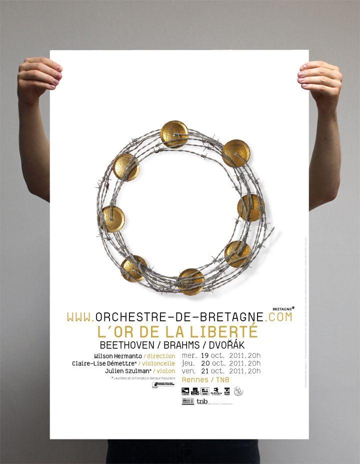 Affiche pour l'orchestre de Bretagne © Amélie Poirier et Mathieu Desailly - poirieramelie.blogspot.fr