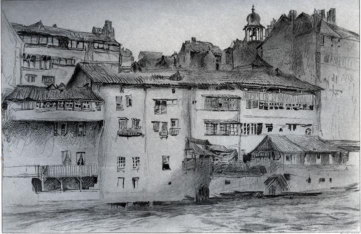 Old Houses at Geneva, by John Ruskin