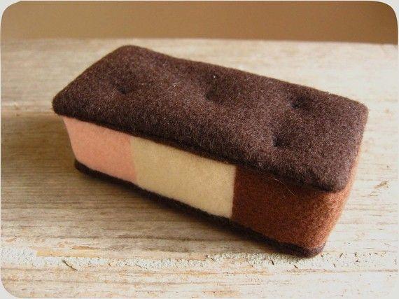 Felt Food Neapolitan Ice Cream Sandwich | Neapolitan Ice Cream, Ice ...
