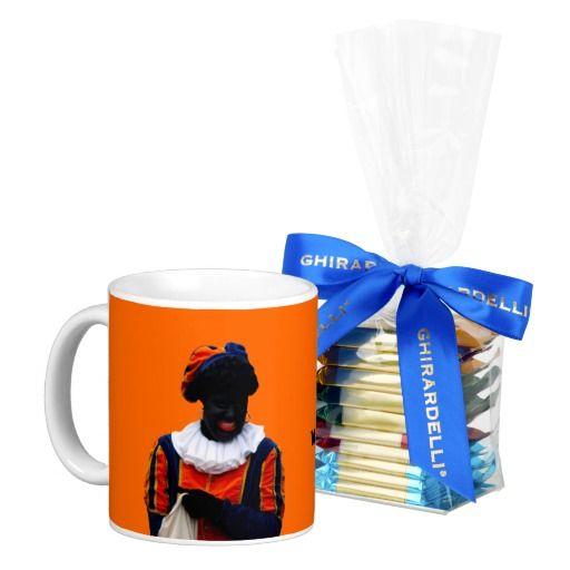 Mug Orange with Black Piet & Chocolates