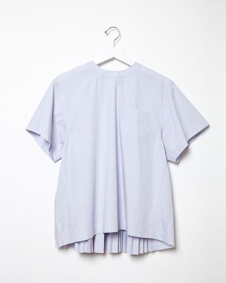 Sacai Luck Pleated Back Short Sleeved Shirt