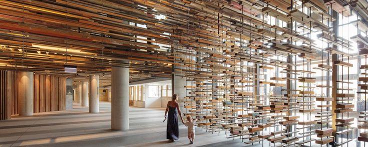 dest lamas de madera para techos Hotel Hotel wood slats on ceilings lames bois pour plafonds