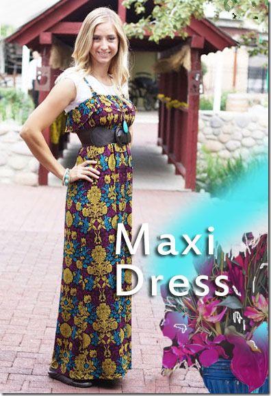 Make a Maxi Dress Pattern...just need a tshirt...
