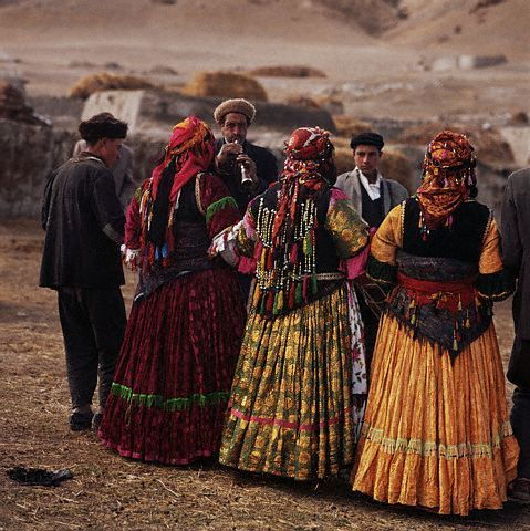 Kurdish villagers dance in preparation for a wedding in the village of Ghara Kilissa, Iran