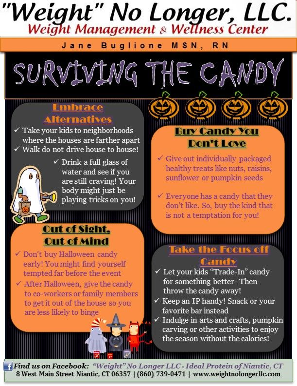 halloween candy weight watchers points plus
