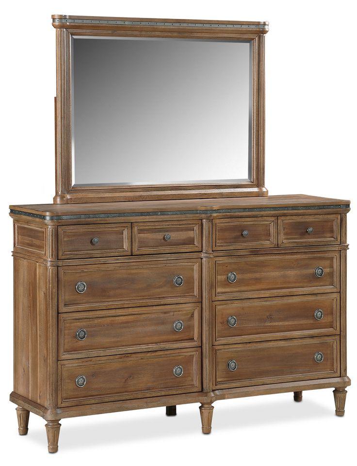 dimora bedroom set%0A Bedroom Furniture  Berwick Dresser and Mirror  Natural