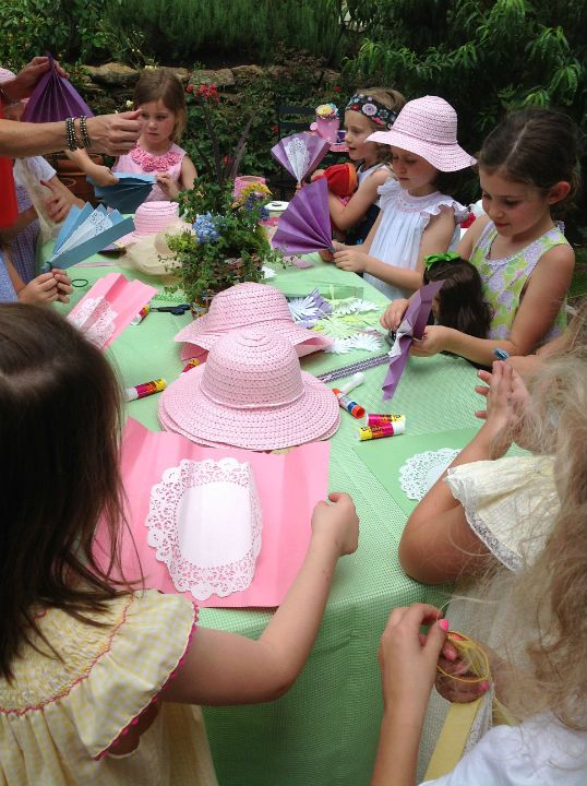 Host a Tea Party for the future Daisy Scouts and their dolls! Tea Party- fan-making, hat-decorating