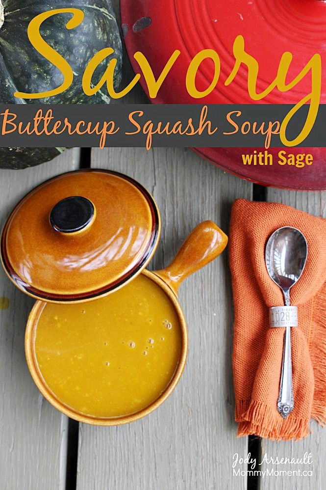 This Savory Buttercup Squash Soup With Sage is sure to please on a crisp fall day. This homemade soup is well loved by our family.