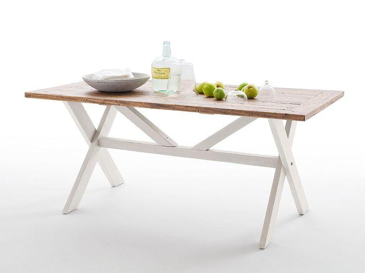 Biały stół drewniany Alice