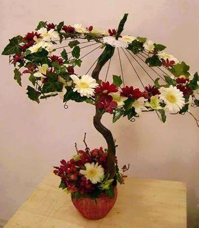 Umbrella floral arrangement
