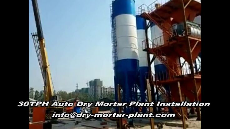 30TPH Automatic Dry Mortar Plant Installation Assembly on Job Site