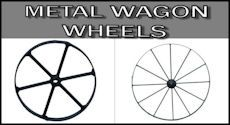Wooden Wagon Wheels - Jake's Country Trading Post