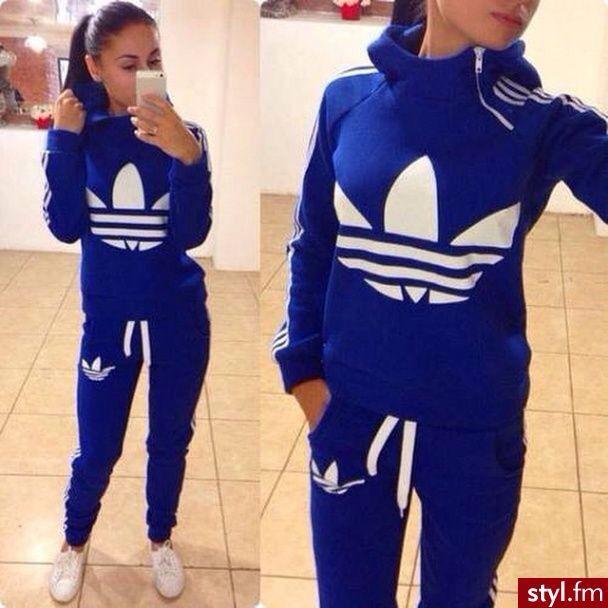 Royal blue Adidas warm-up
