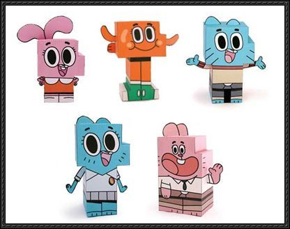 The Amazing World of Gumball Paper Toys Free Download