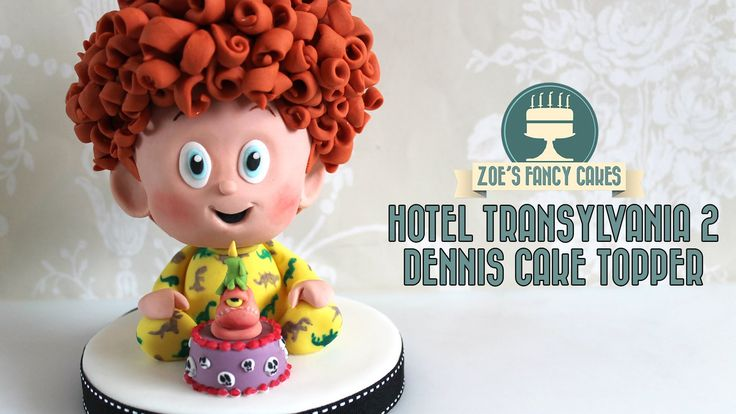 Hotel Transylvania 2 Movie cake : Baby Dennis cake topper This video is part of a collaboration for the new Hotel Transylvania 2 movie, see links below: Suga...