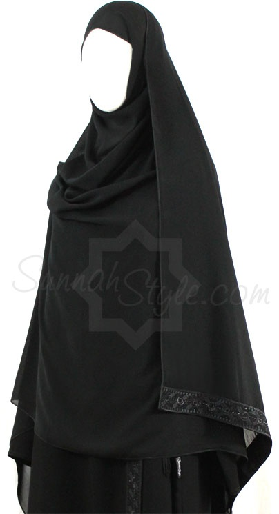 Black Diamond Shayla by Sunnah Style #SunnahStyle #Islamicclothing #hijabstyle