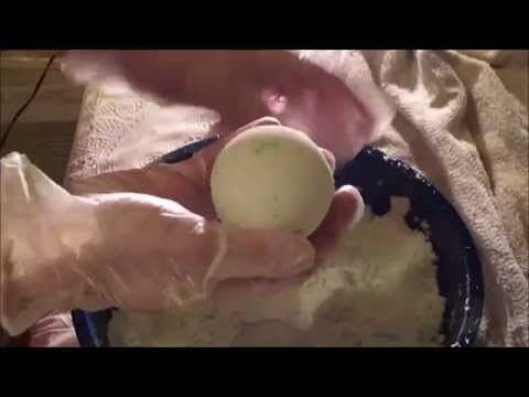 Making Margarita Lime Bath Bombs with Recipe