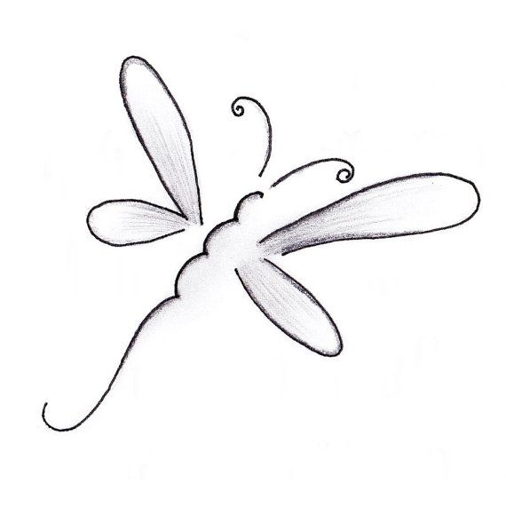 Dragonfly tatouage nep tattoo hand getekende door SharonHArtDesigns