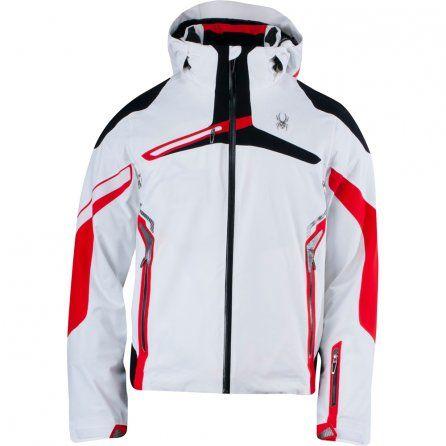 Spyder Alps Insulated Ski Jacket (Men's) - White/Volcano/Black