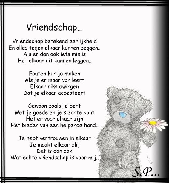 Tatty teddy -  Vriendschap is....