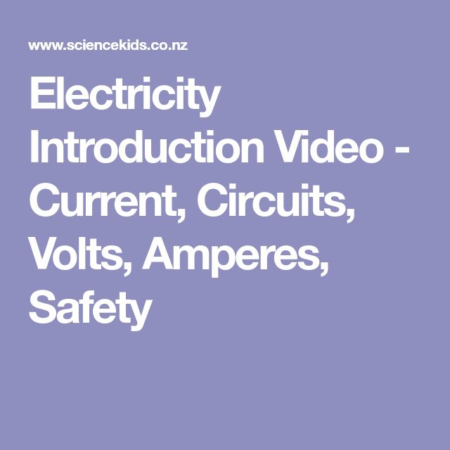 Electricity Introduction Video - Current, Circuits, Volts, Amperes, Safety