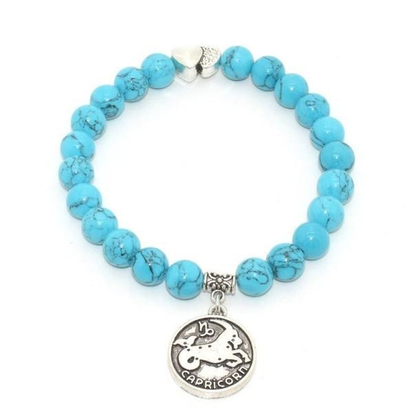Leo Zodiac Sign Traits Dog Tag Necklace Pendant Stainless: Zodiac Signs Beaded Charm Bracelet [12 Signs]