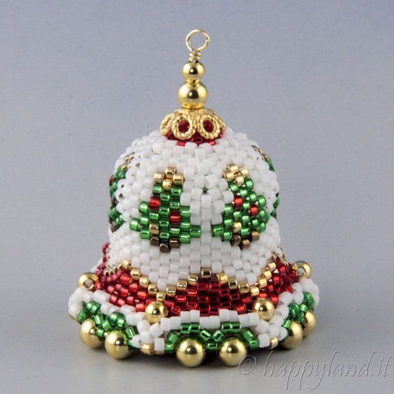93 best Beaded Christmas Ornaments images on Pinterest  Beaded