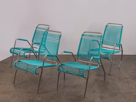 Admirable Ames Aire Set Of Four Woven Teal Patio Outdoor Chairs In Gmtry Best Dining Table And Chair Ideas Images Gmtryco