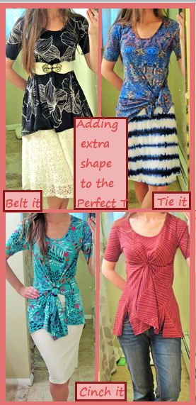 How to: the LuLaRoe Perfect T!  Several cute styling option for this flattering tunic top.