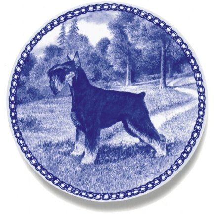 Standard Schnauzer / Lekven Design Dog Plate 19.5 cm /7.61 inches Made in Denmark NEW with certificate of origin PLATE -7387 -- You can find more details by visiting the image link. (This is an affiliate link and I receive a commission for the sales)