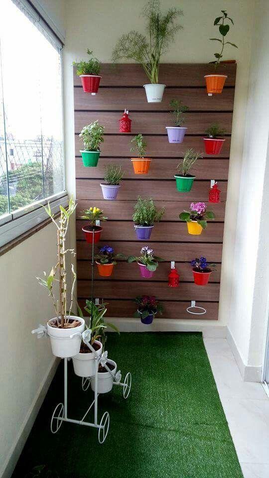 Jardim vertical interno, sem pátio