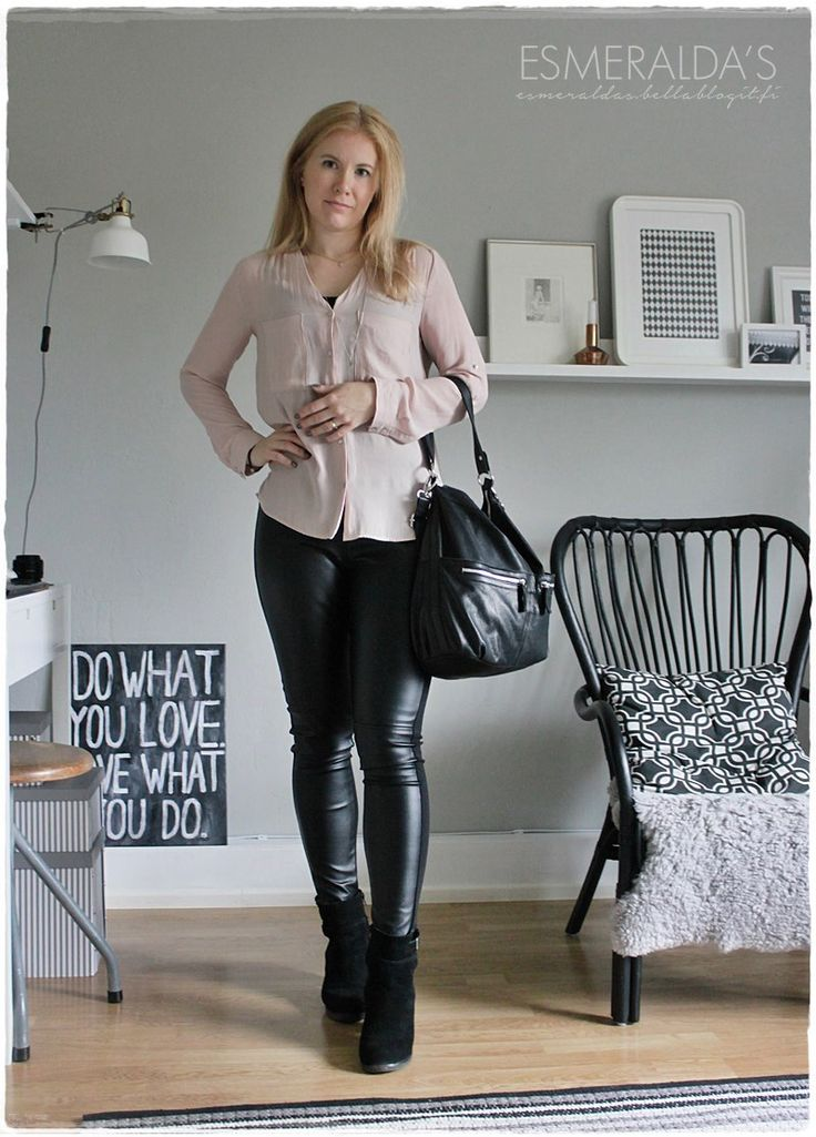 Leather Pants and Light Pink