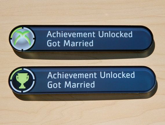 Custom Xbox Achievement Magnet  Wedding Gift by AnotherCastleStore