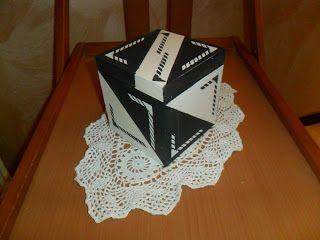 Il Mercatino di Zia Lella: Scatola legno in stile black & white