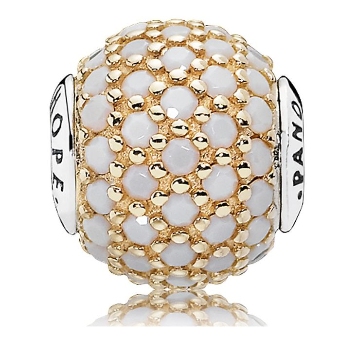 Pandora Gold White Crystal Hope Essence Charm 796059NWC Cheap