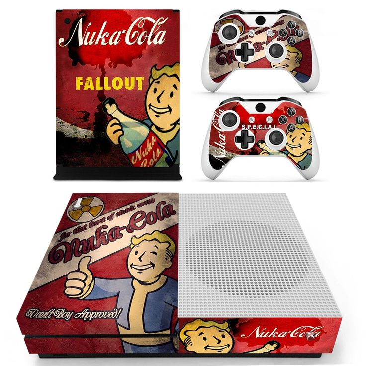 Fallout 4 skin decal for xbox one S console and 2 controllers