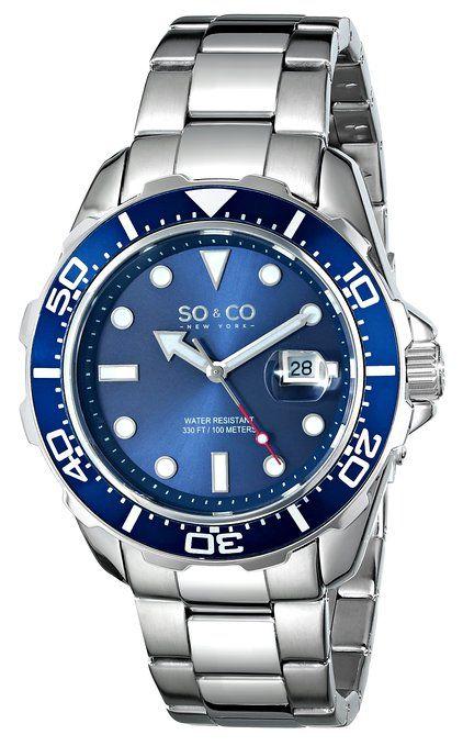 SO&CO New York Men's 5042.2 Yacht Club Analog Display Japanese Quartz Silver Watch
