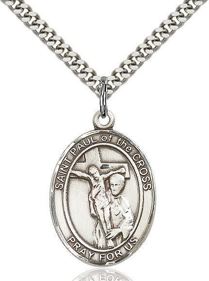 """St. Paul Of The Cross Sterling Silver 1"""""""