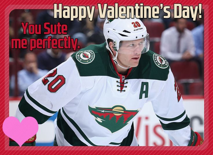 235 best hockey Minnesota Wild mainly images – Hockey Valentine Cards