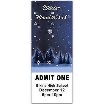 Winter Wonderland Personalized Ticket