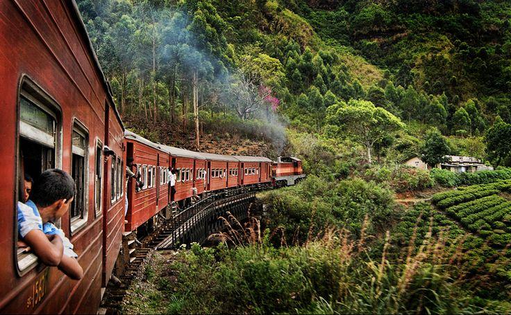 SRI LANKA RAILWAY SRI LANKA  Entre Haputale et Nuwara Eliya, vivez l'expérience fabuleuse d'un train local, qui traverse des paysages magnifiques de plantations de thé à 40km/h, et voyagez avec la population locale pendant un peu moins de deux heures pour un trajet haut en couleurs !