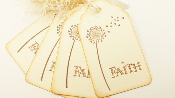 Dandelion Tags Faith Religious Spiritual Church by LazyDayCottage