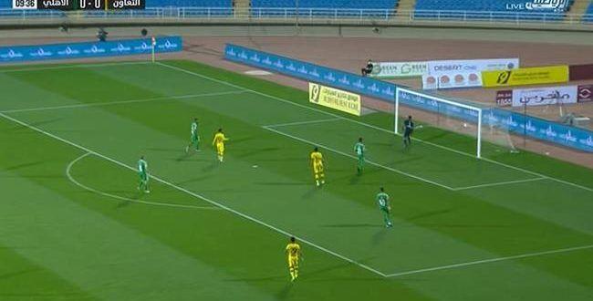 ملخص مباراة الاهلي والتعاون فى الدوري السعودي Soccer Field Soccer Field