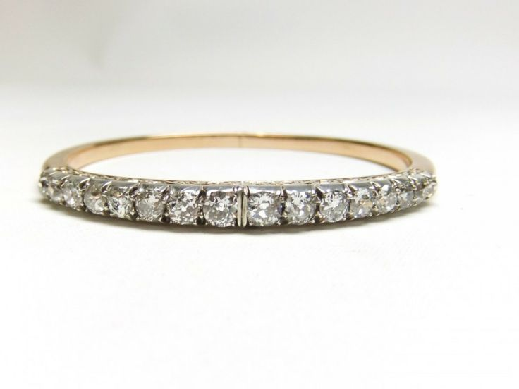 Victorian diamond bangle opens from the front